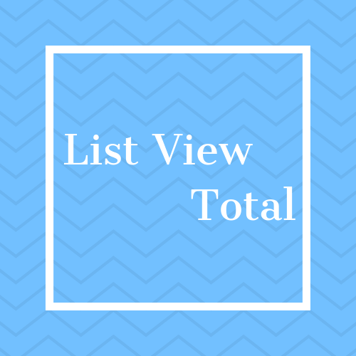 List View Total