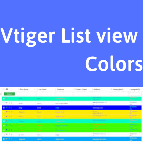 vtiger list view colors