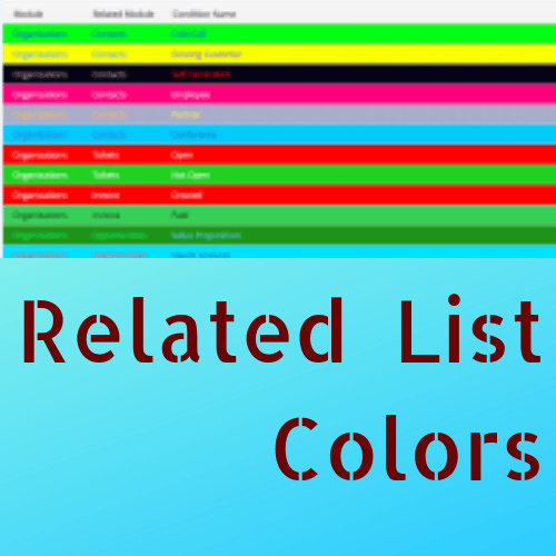 Related List Colors